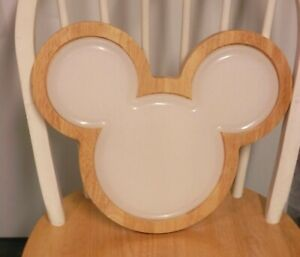 EXCELLENT / RARE / DISNEY MICKEY MOUSE WOOD HEAD CUTTING BOARD / SERVING TRAY