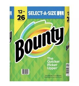 Bounty Select-A-Size Paper Towels, White 12 rolls = 26 Rolls 📦 Quick - 120/Roll
