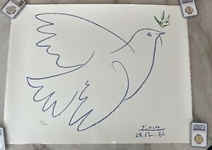 PABLO PICASSO COLOMBE BLEUE SIGNED HAND NUMBERED 7991000 SPADEM LITHOGRAPH  $250.00