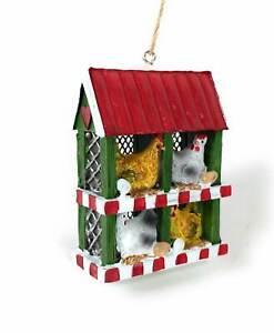Chicken Coop w 4 Hens amp; Eggs Christmas Tree Ornament