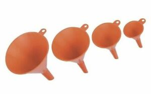 Plastic Funnel Set 4 Pieces For Home or Kitchen 2quot; 3quot; 4quot; and 5quot; FREE Samp;H