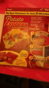 Potato Express Microwave Baked Potato Cooker Bag with Recipe Guide NEW