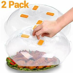 2 Pack - Microwave Plate Cover,Microwave Cover for Food,Microwave Splatter Guard