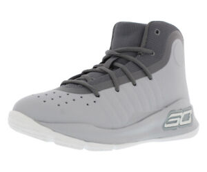 Under Armour Ps Curry 4 Mid Basketball Kid's Shoes Grey 12K $31.75