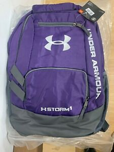 Mens Under Armour Team Hustle Storm Backpack purple 1272782 001 Brand New w tag $40.00