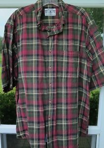 Brooks Brothers Men's Imported Cotton Plaids Checks Sport Casual Shirt Large USA $22.97