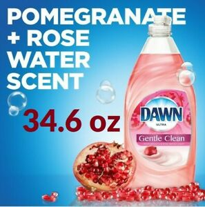 Dawn ULTRA Dish Soap 34.6oz Bottle Pomegranate & Rose Water 2X More Power-1 Pack