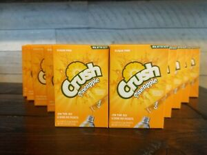 10 Boxes Crush Pineapple On The Go Drink Mix= 60 packets~Sugar Free~Low Calorie