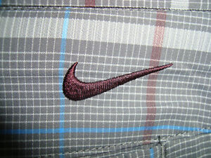 NIKE GOLF DRI FIT FLAT FRONT PLAID SHORTS MENS SIZE 38 HARDLY WORN! $24.99