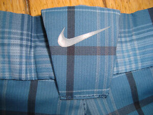 NIKE GOLF DRI FIT FLAT FRONT PLAID SHORTS MENS SIZE 32 HARDLY WORN! $22.99