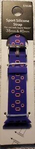 Apple Watch Sport Silicone Strap Band Replacement 38 40 mm Purple Pink $8.00