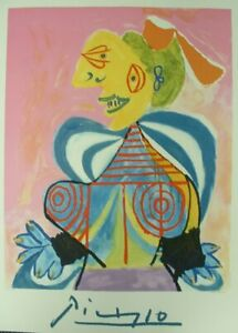 NEW Pablo Picasso Signed Numbered Litho from Marina Estate L'Arlesienne $169.99
