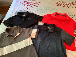 Slazenger And Under Armour Set Of 4 Boys Golf Shirts Size Small Preowned $18.00