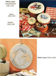 SEWING BOXESPINCUSHION X STITCHING HANDS CROSS STITCH PATTERN ONLY YD QUW $7.45