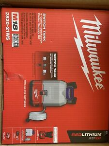 Milwaukee 2820-21WS M18 SWITCH TANK 4-Gal. Backpack Water Supply Kit. BRAND NEW!