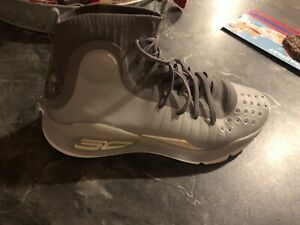 Under Armour Steph Curry 4 Basketball Shoes Youth Size 6.0 Y Grey White $5.25