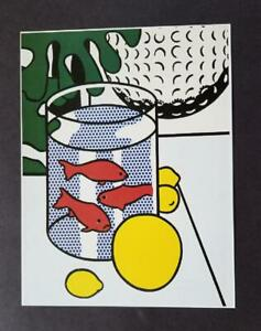 Roy Lichtenstein  Still Life With Goldfish Bowl Mounted off-set  Lithograph 1983 $39.99