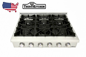 Thor 36'' Gas Range Top Oven Stove top with 6 Burner Stainless Steel HRT3618U US