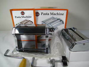 Norpro Manual Hand Crank Stainless Steel Pasta Machine 1049-Fits Marcato Attach.