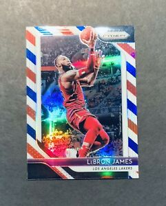 2018 19 Panini Prizm LeBron James #6 Red White & Blue Prizm Parallel PRIZM