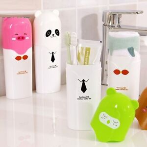 Cartoon Toothbrush Case Holder Portable Cover For Travel Camping Hiking Box Tube