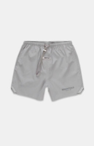 Fear of God Essentials Silver Reflective Nylon Running Shorts Size S L FAST SHIP