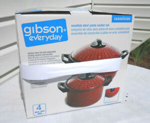 Gibson Everyday Casselman Nonstick Steel Pasta Cooker Set