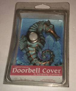 Seahorse, Lighted Doorbell Button, Hand Painted