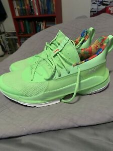 UA Curry 7 Sour Patch Kids Lime Green size 9.5 Under Armour Basketball Shoes $170.00