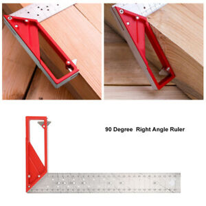 30cm Stainless Steel Right Angle Ruler 45° 90° Woodworking Try Square $25.68