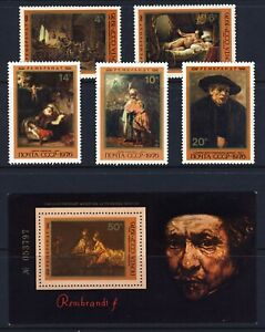 RUSSIA 1976 Rembrandt Paintings 4511 16 . Mint Never Hinged $4.50