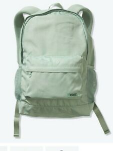 Victoria#x27;s Secret PINK Backpack NEW seasalt green with logo