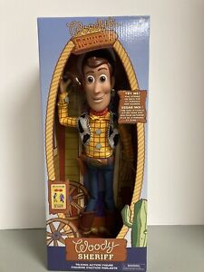 """Disney Store Toy Story 4 """"Interactive Talking Sheriff Woody� Pull String NEW $34.99"""