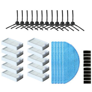 10X Side Brush Hepa Filter Mop Cloth Primary Dust Filter