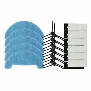 10X Side Brush Hepa Filter Mopping Cleaning Cloth Sets For Ecovacs