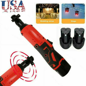 Electric Cordless Right Ratchet 3 8#x27;#x27; 12V 90° 65Nm Angle Wrench Tool 2 Battery $38.11