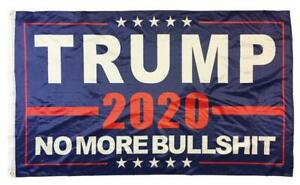 Trump 2020 No More BS Blue 3x5 Nylon Flag Double Sided Fade resistant NEW