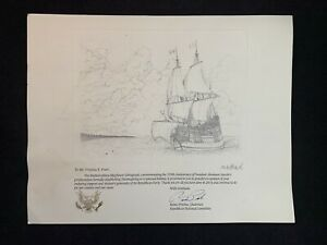 2014 Republican Party Limited Edition Lithograph of the Mayflower $35.00