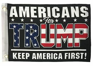 Americans For Trump Boat Motorcycle Flag Double Sided NEW
