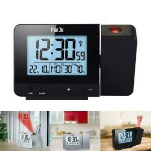 Digital Projection Alarm Clock Led With Temperature New Display Lcd Weather C4U5