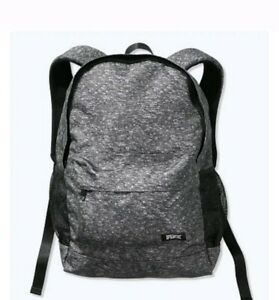 Victoria#x27;s Secret PINK Backpack NEW heathered grey with logo