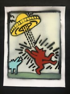 KEITH HARING * Original Graffiti On Paper Signed Numbered Certified MynBender $159.99