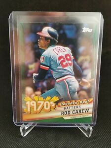 2020 Topps Series 2 Decades' Best ROD CAREW Green Parallel SP #DB 44 Twins