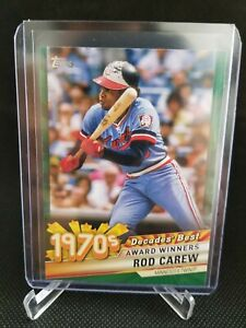 2020 Topps Series 2 Decades' Best ROD CAREW Green Parallel SP #DB 36 Twins