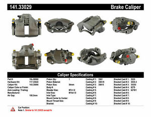 Centric 141.33029 Disc Brake Caliper Semi Loaded Caliper Front Right Reman $48.99