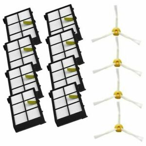 10X Side Brushes Hepa Filters Replacement Parts For iRobot Roomba 800 900