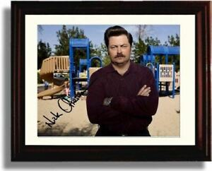 Framed Nick Offerman Autograph Promo Print Ron Swanson