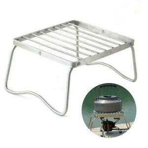 Ultralight Folding Camping Grill Rack Stove Barbecue Steel Picnic Tool U4R7