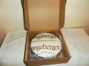 NEW LONGABERGER PROTECTOR SET 10quot; ROUND CHIP AND DIP 40811 IN ORIGINAL BOX $15.00