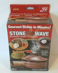 Stone Wave Microwave Cooker Hand Made Ceramic Stoneware Non Stick New Sealed